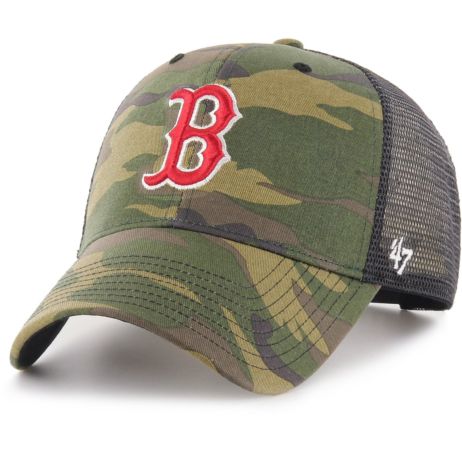 47 Brand Trucker Cap - BRANSON Boston Red Sox wood camo 193234775018 ... 90996380f0d