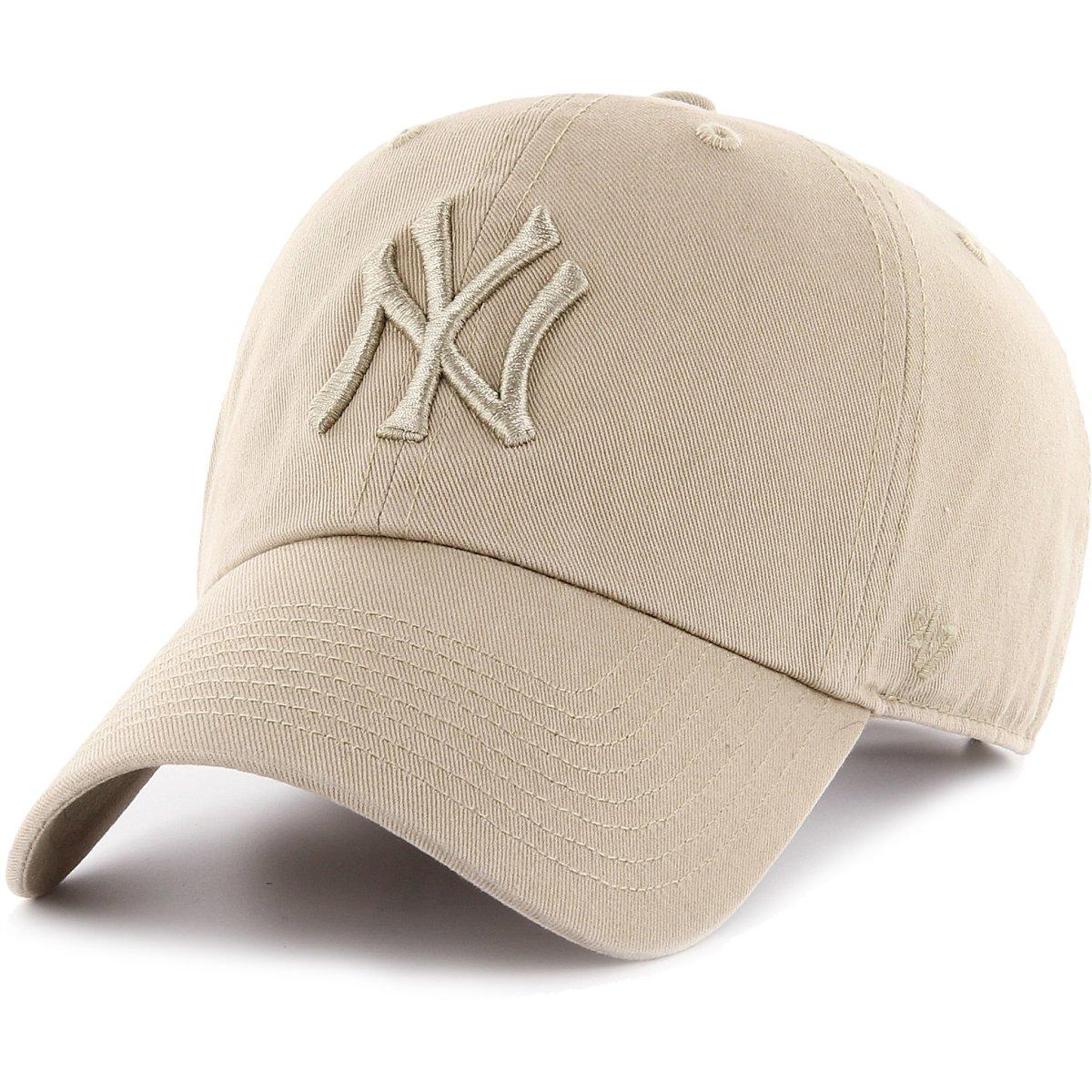 reputable site d2d68 8081d Details about 47 Brand Adjustable Cap - CLEAN UP New York Yankees khaki