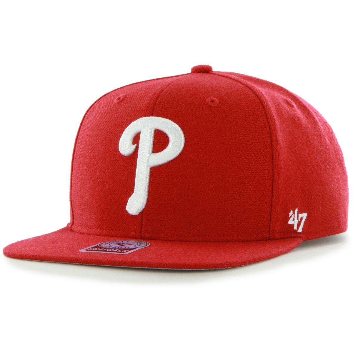 d5e5680c6b1 Details about 47 Brand Snapback Cap - SURE SHOT Philadelphia Phillies red