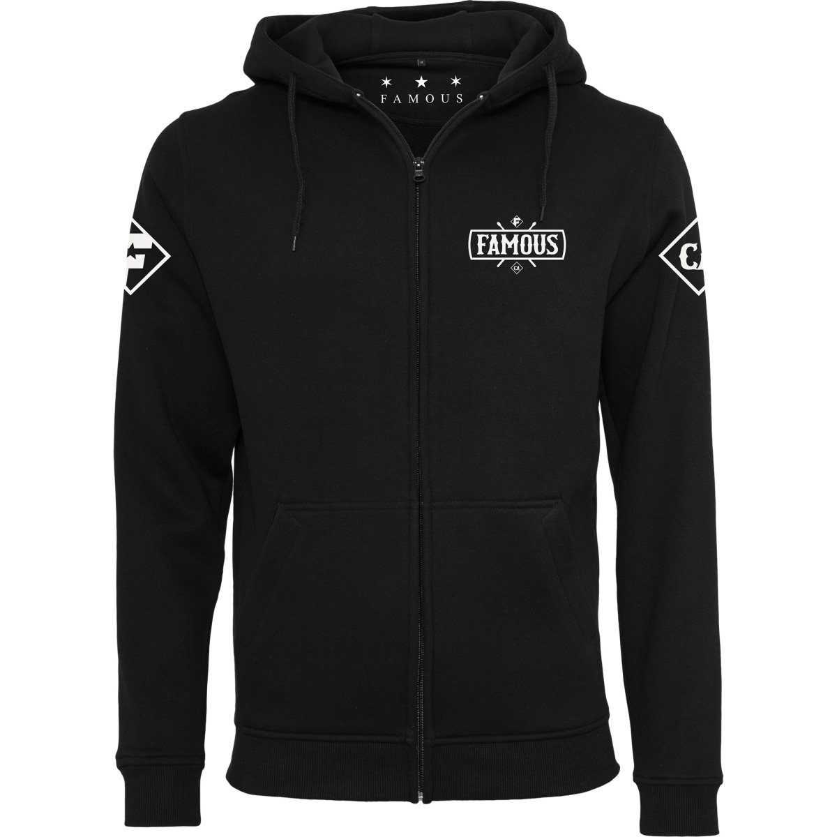 Famous Stars and Straps Zip Hoody - CHAOS schwarz