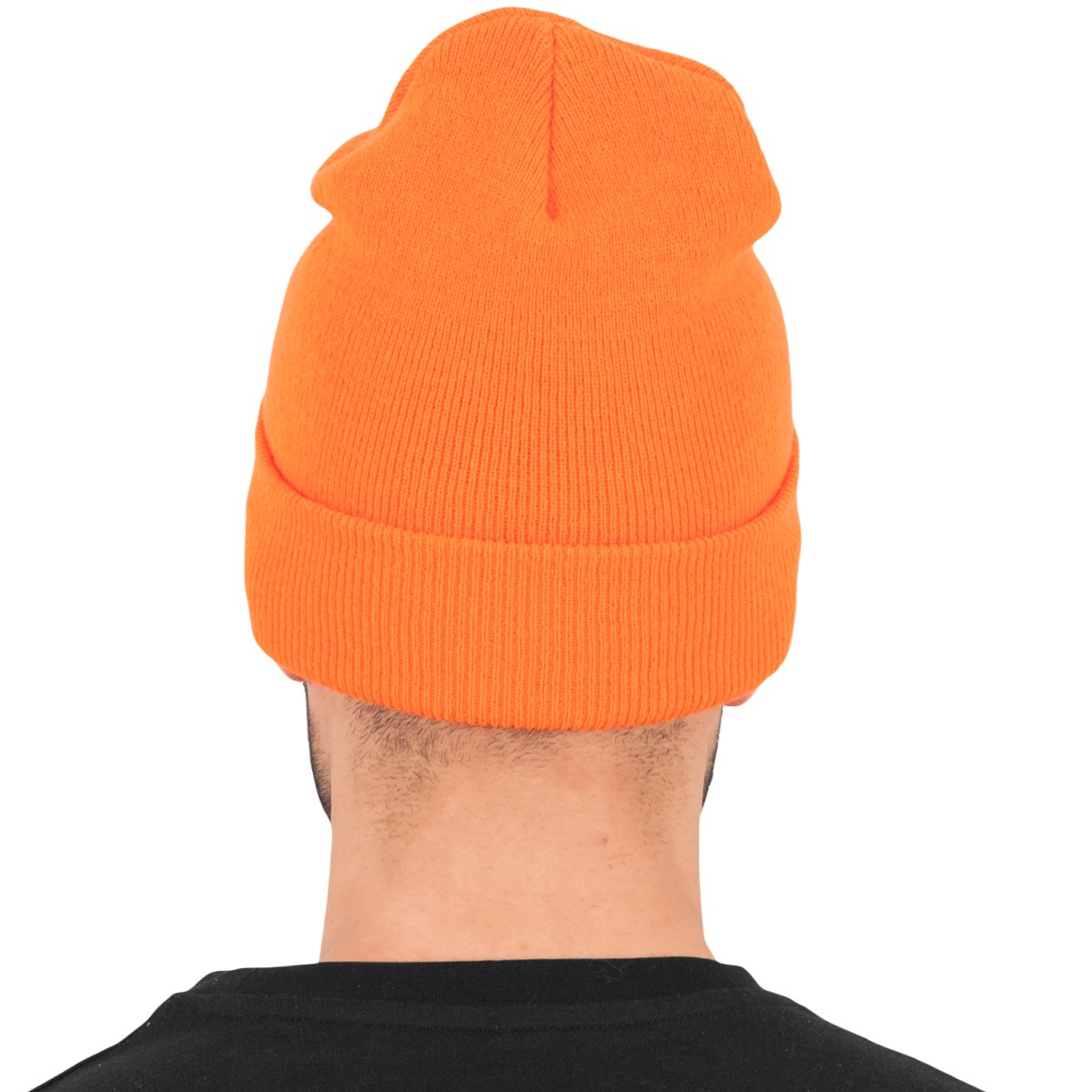 c97a2e0b87e Heavyweight Long Beanie Urban Classics Flexfit Hat Yupoong Blaze Orange.  About this product. Picture 1 of 4  Picture 2 of 4  Picture 3 of 4  Picture  4 of 4