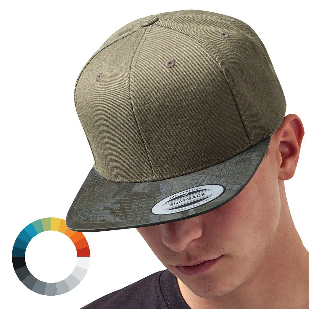 458da88fc74b3 Details about Flexfit CAMO VISOR Snapback Army Cap