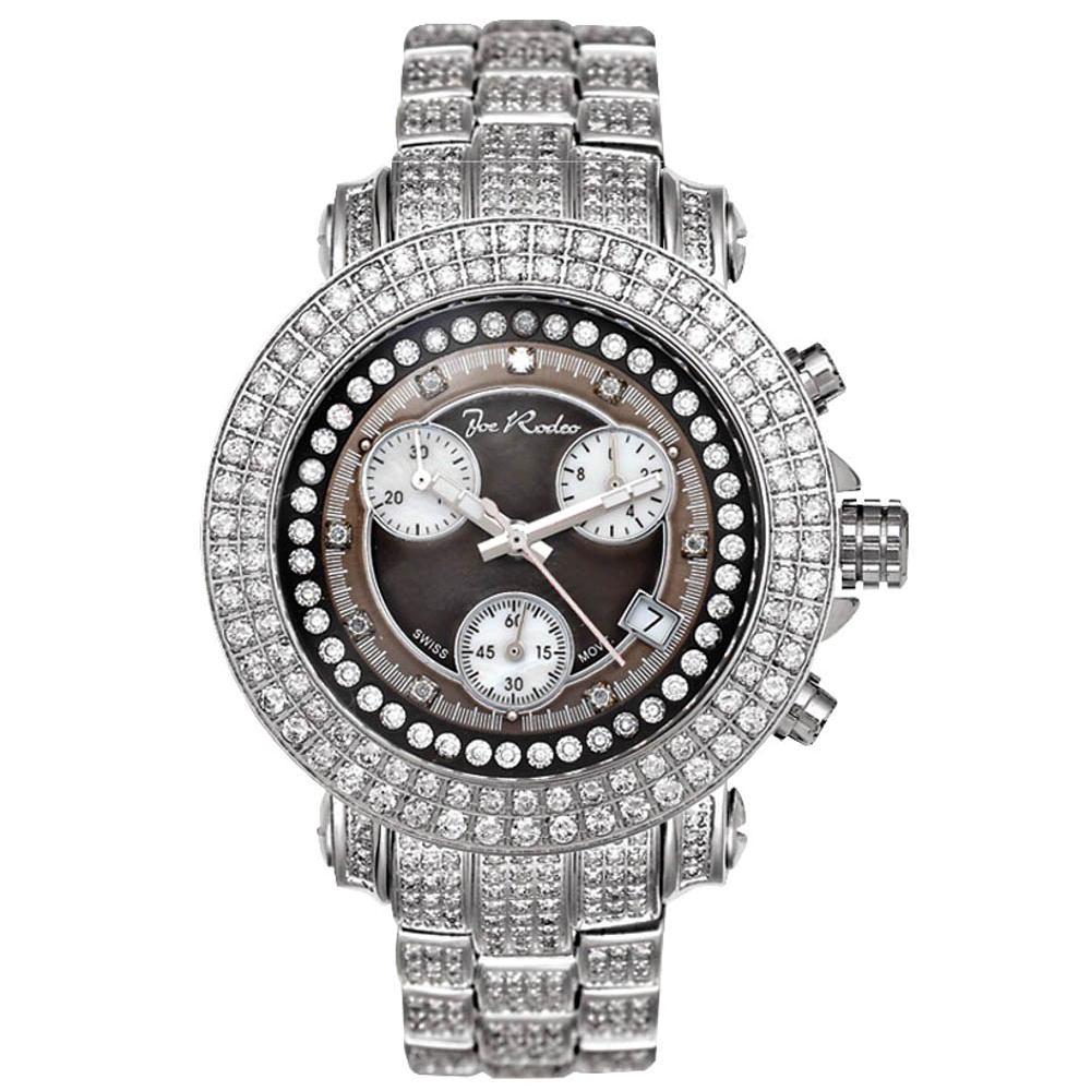 Joe Rodeo Diamant Herren Uhr Rio Silber 10 Ctw Ebay