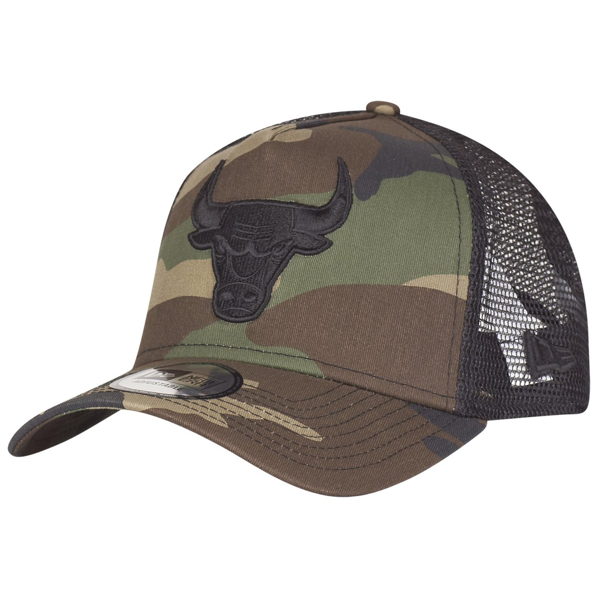 New Era Adjustable Trucker Cap - Chicago Bulls wood camo - One Size ... 53460736c2c