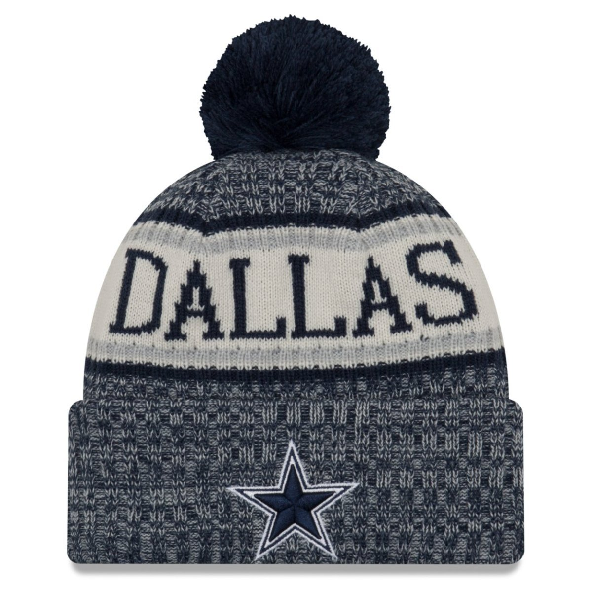 New Era NFL Sideline 2018 Bobble Mütze - Dallas Cowboys | eBay