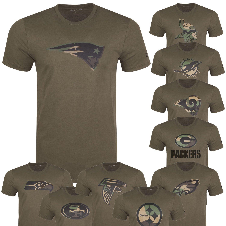 New Era Shirt wood camo NFL Green Bay Packers schwarz