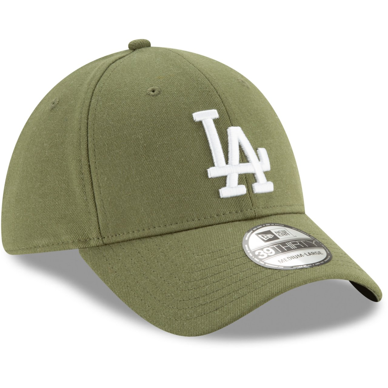 Los Angeles Dodgers heather army New Era 39Thirty Cap