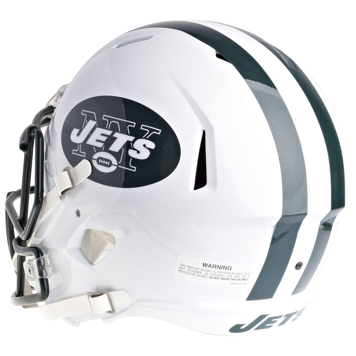 550 Size New York Jets Replica Helmet on base New NFL Football Poly Helmet