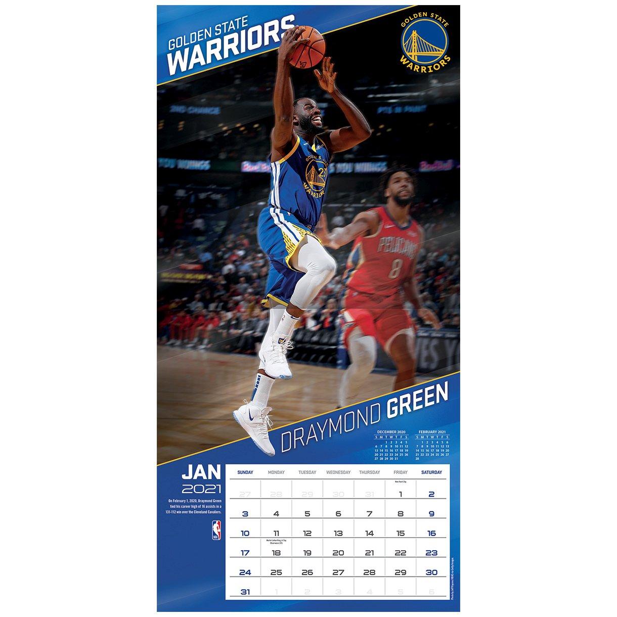 Turner NBA 30x30cm Wall Calendar 2021 Golden State Warriors - One Size | eBay