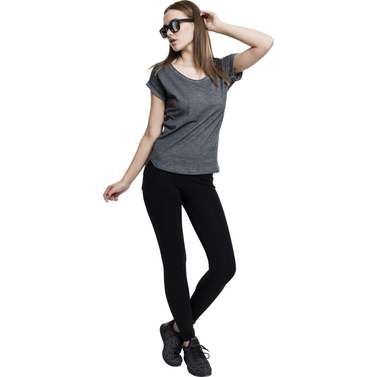URBAN Classics Ladies-Long shaped Hilo Top Shirt Camo