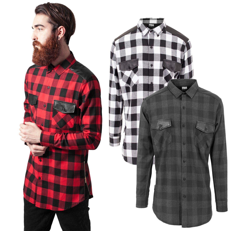 9b53eca3125e Urban Classics - FLANELL Holzfäller Zipper Hemd, extra lang   eBay