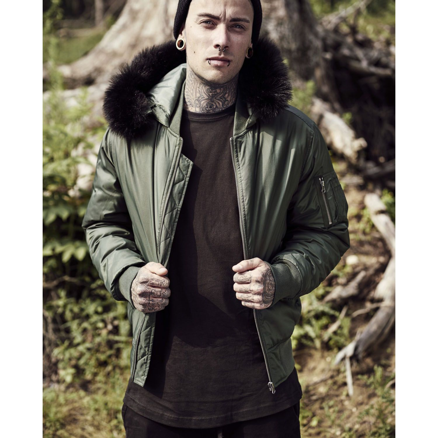Hooded Basic Bomber Jacket Urban Classics Streetwear Men XXL Olive. About  this product. Picture 1 of 5  Picture 2 of 5  Picture 3 of 5 ... 9721560732d