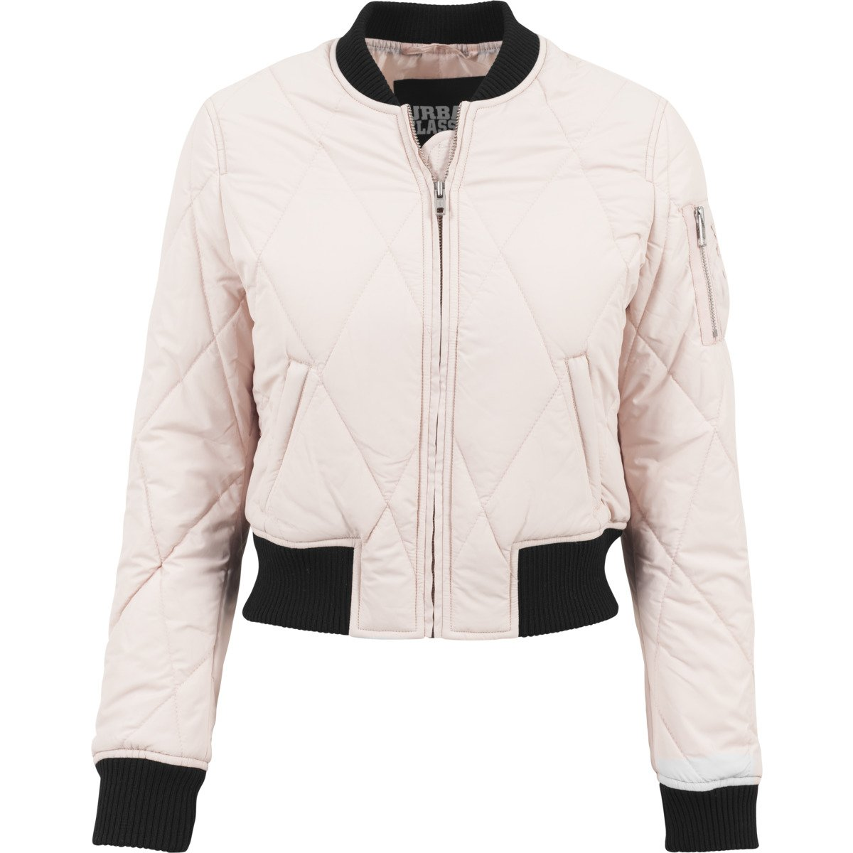 Urban Classics Ladies  Diamond Quilt Shorts Bomber Jacket Light Pink   Black  L. About this product. Picture 1 of 5  Picture 2 of 5 ... ba578d6d26