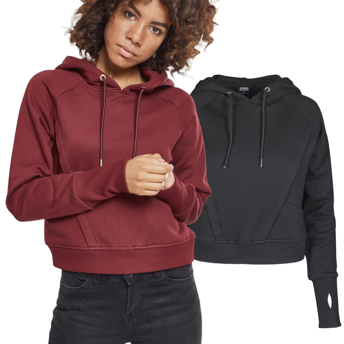 BASIC Fleece Sweatshirt Hoody Urban Classics Ladies