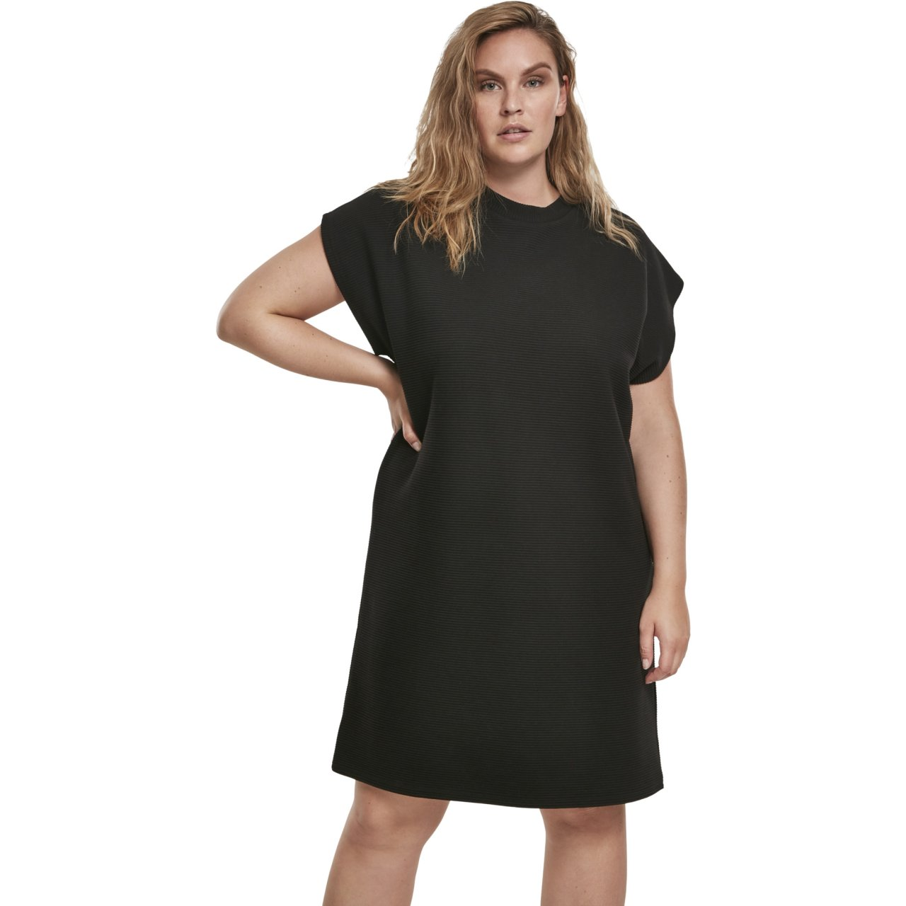 kleider urban classics damen kleid kurz naps terry extended