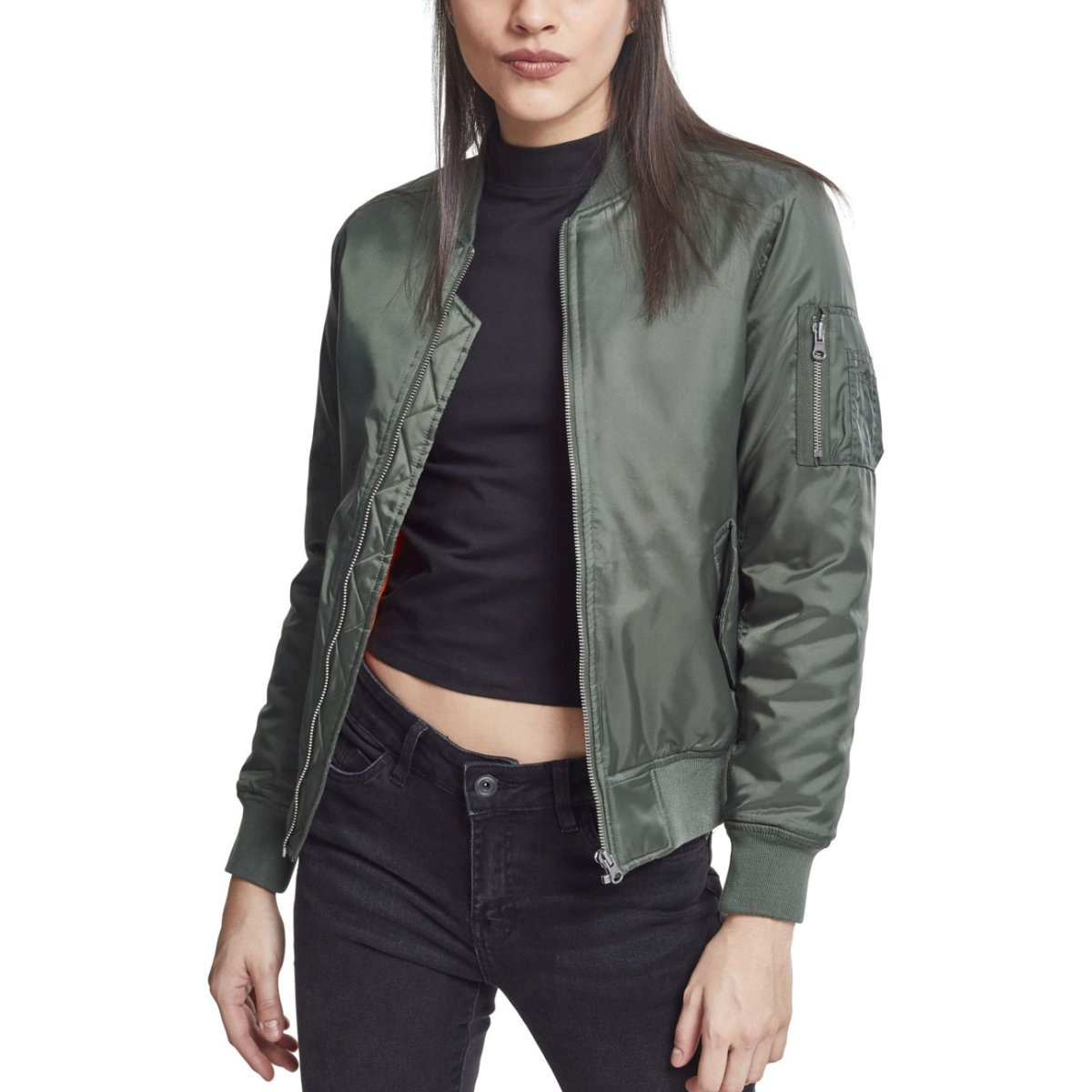 31aeae5b Urban Classics Ladies' Basic Bomber Jacket Tb807 Olive S. About this  product. Picture 1 of 6; Picture 2 of 6; Picture 3 of 6 ...