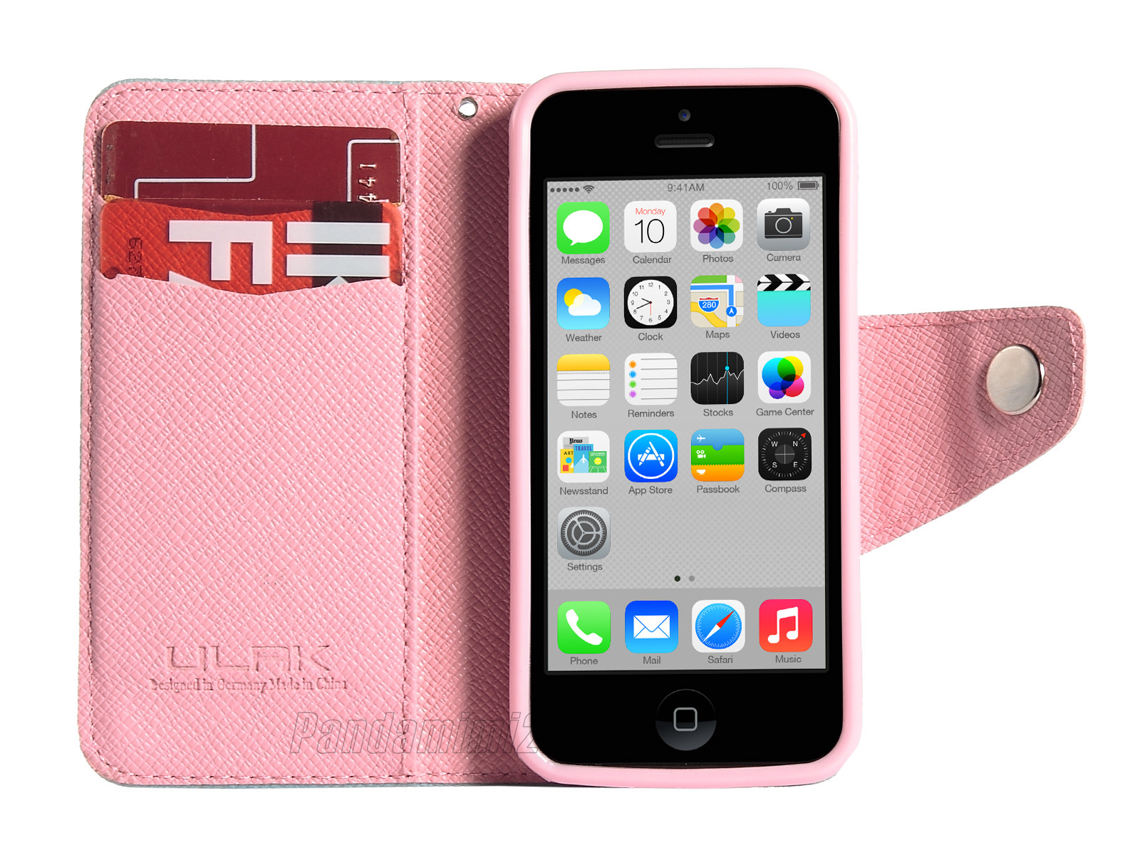 Hybrid Cute Card Holder Flip PU Leather Wallet Case Cover