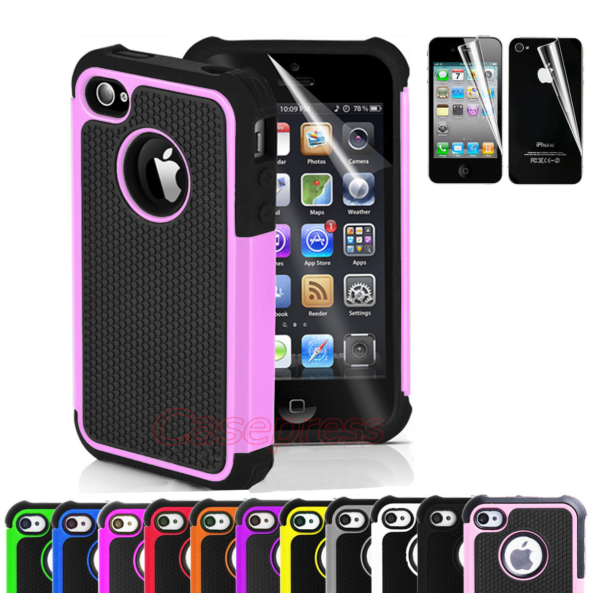 iphone 4s black for iphone 4 4s black rugged rubber matte 4082