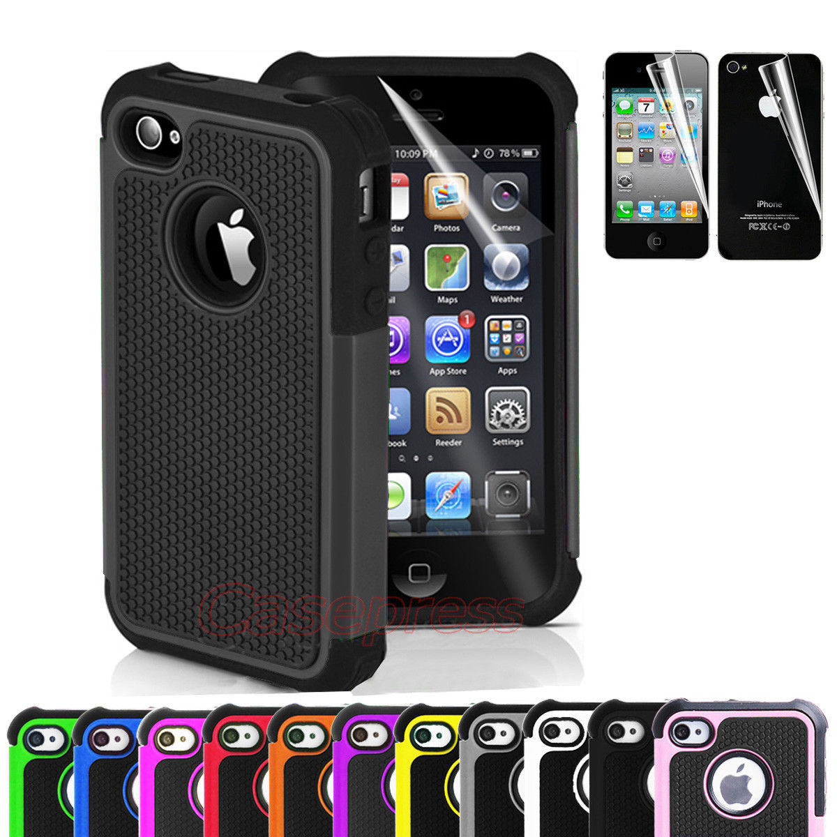 4s iphone case for iphone 4 4s black rugged rubber matte 1149