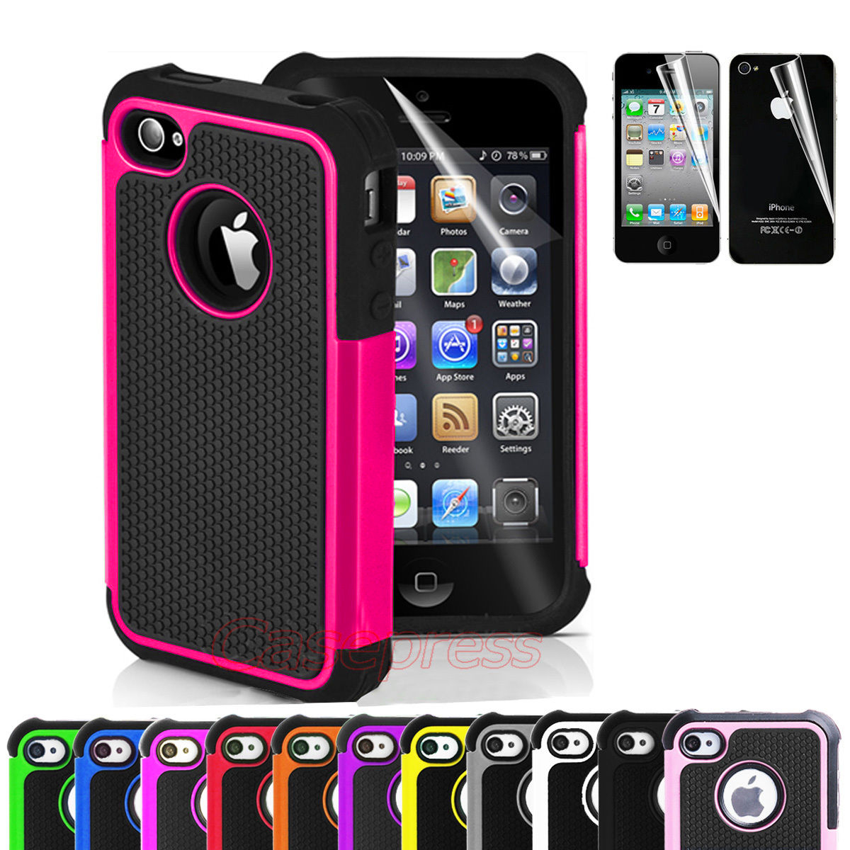 iphone 4 covers for iphone 4 4s black rugged rubber matte 10850