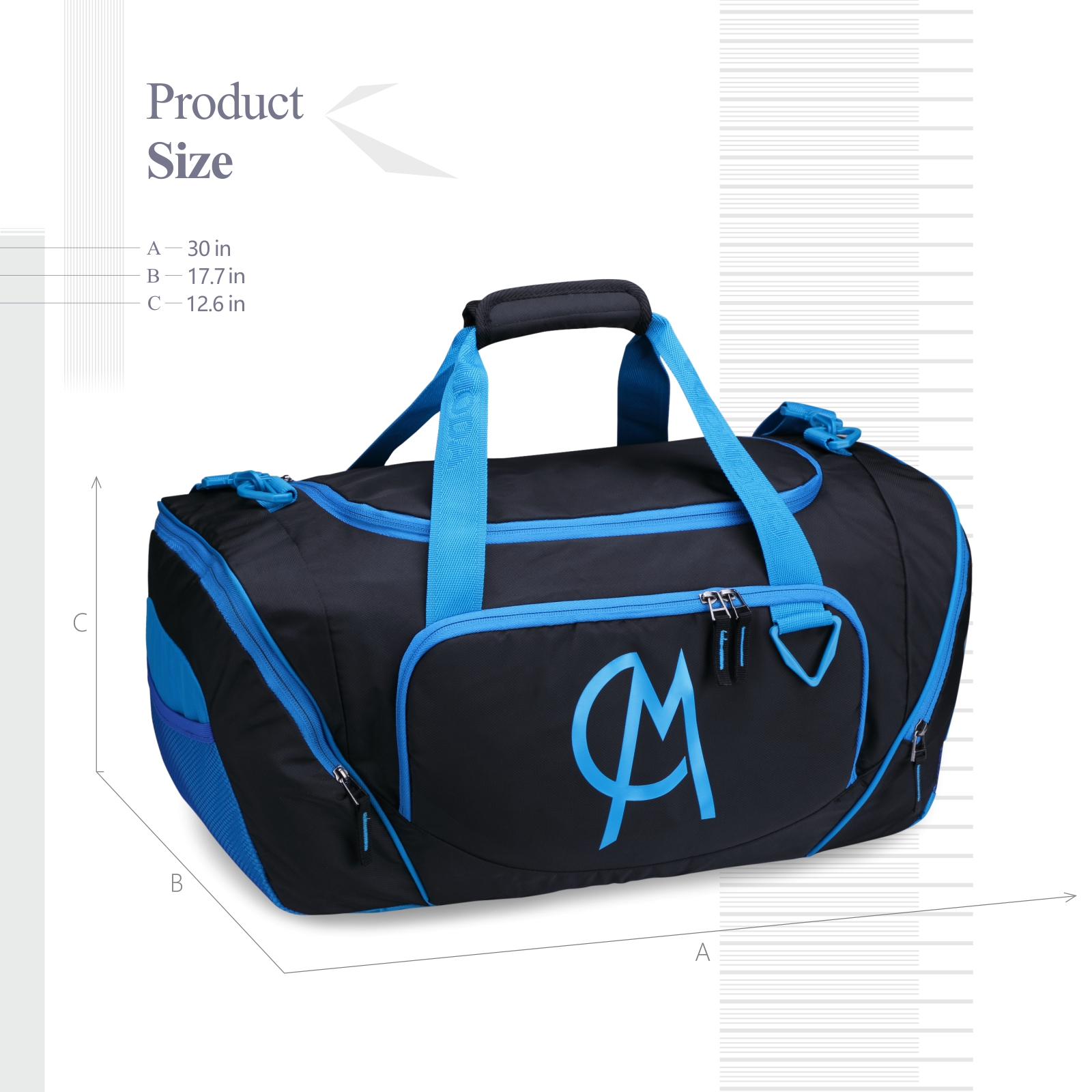 df8d28797c5c Gym Duffel Bag Luggage Bag with Shoe Compartment Large Capacity ...