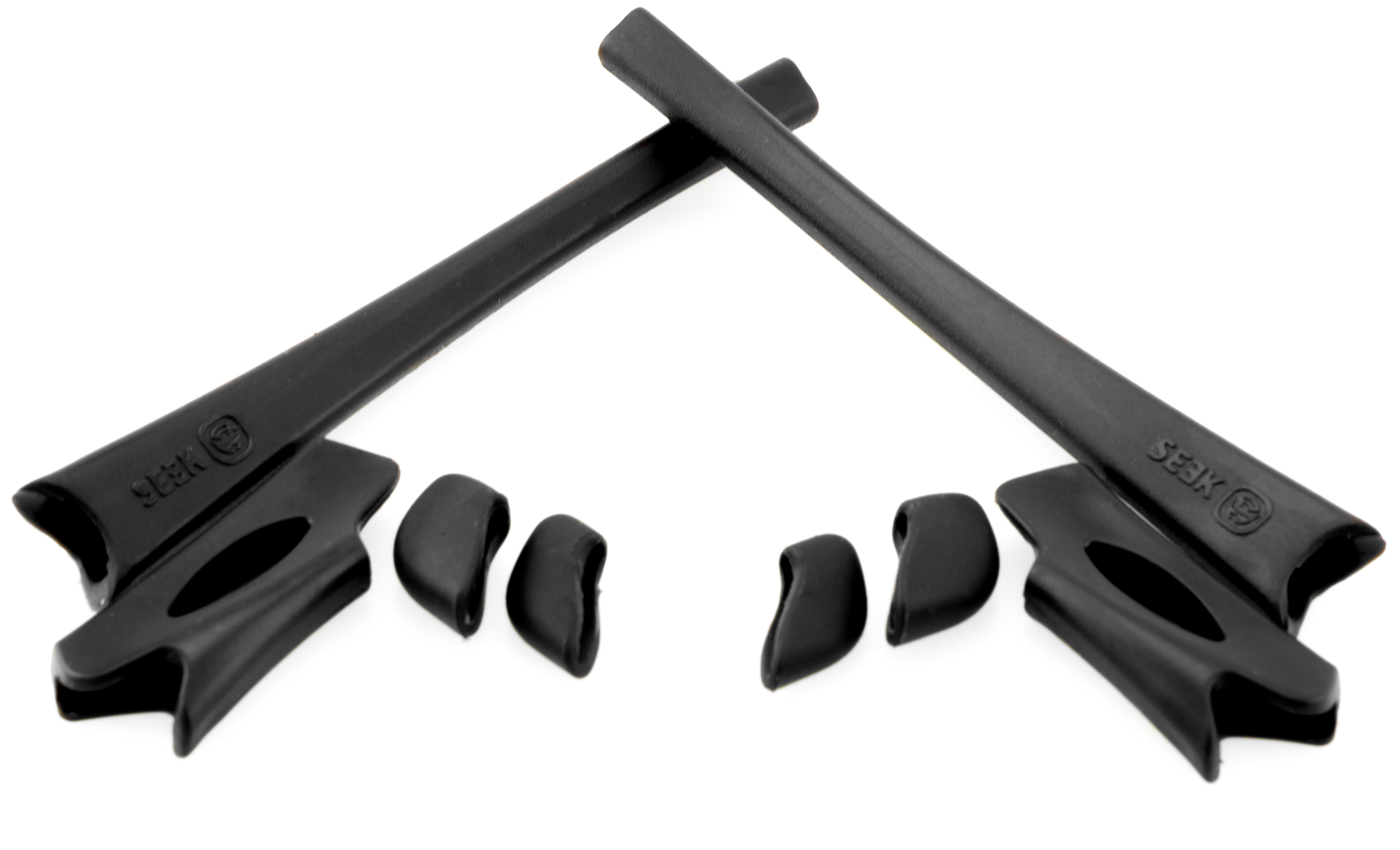 e5b0707e37114 FLAK JACKET XLJ Accessories Kit Earsocks   Nosepads Black by SEEK fits  OAKLEY