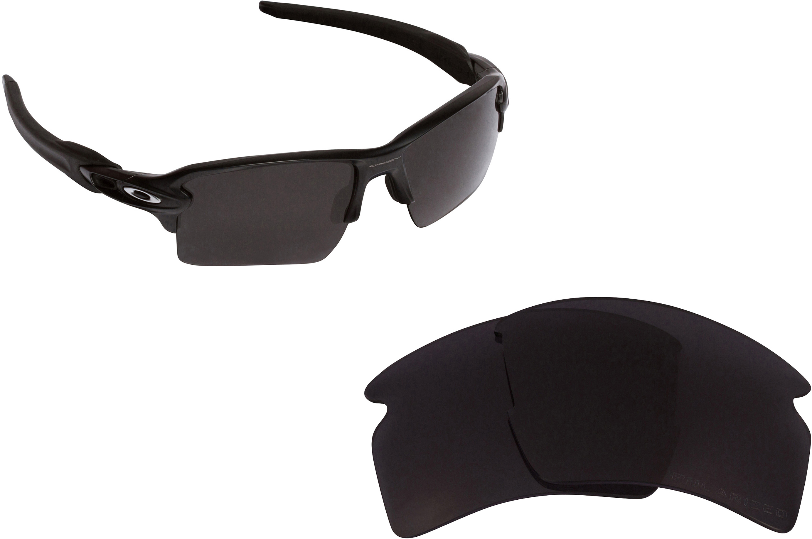 f1fba6e72d1 Seek Optics Replacement Lenses for Oakley Flak 2.0 XL Black. Be the first  to write a review. About this product. Picture 1 of 6 ...