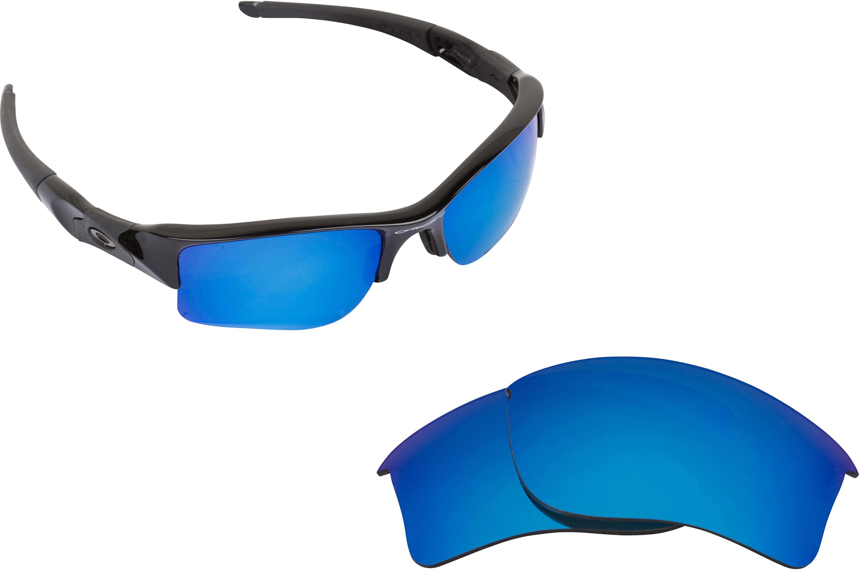 Oakley Flak Jacket Deep Blue Iridium Polarized Louisiana