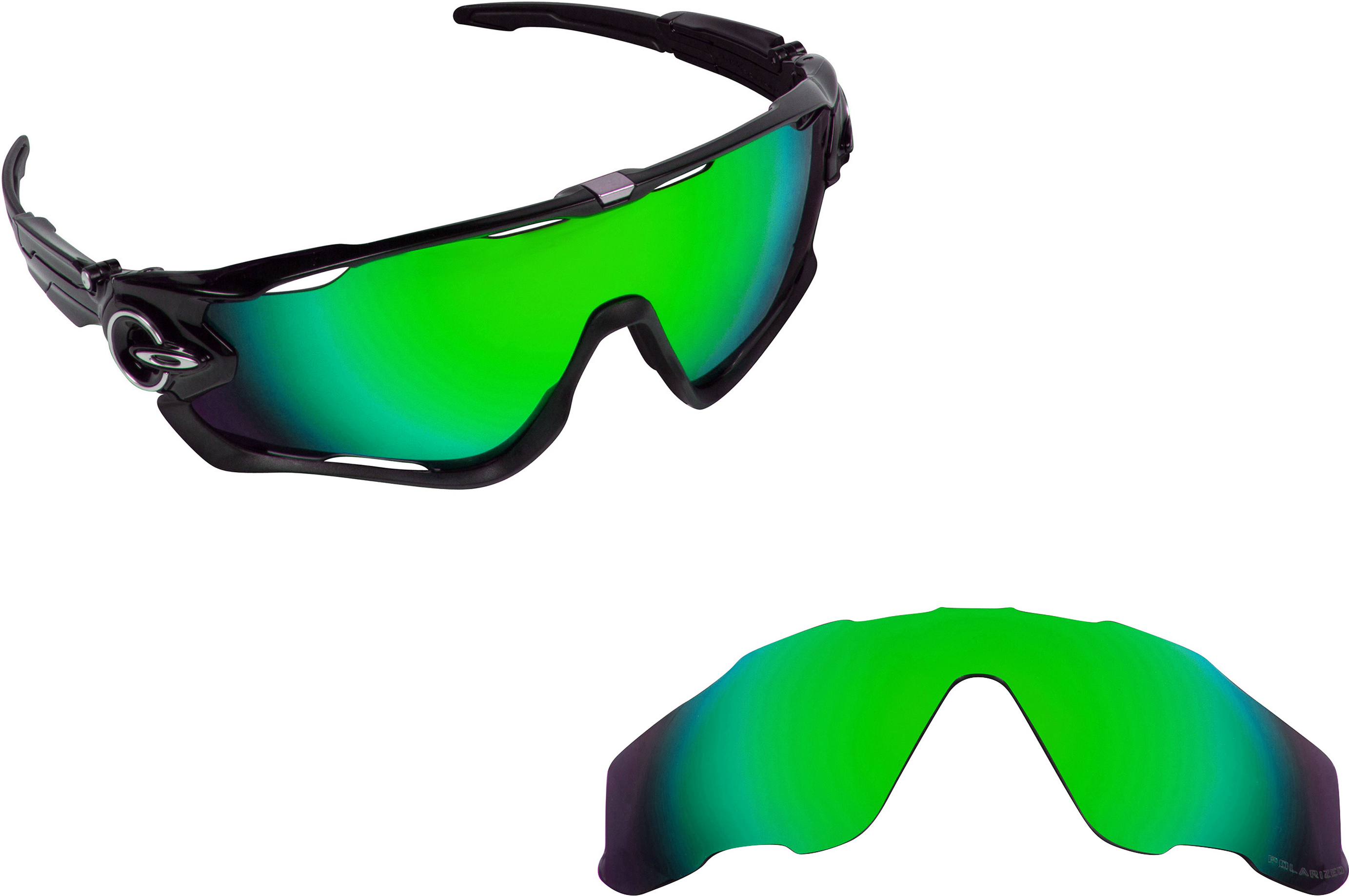 945078f4c8b ... new seek polarized replacement lenses oakley jawbreaker asian fit green  mirror. picture 1 of 7