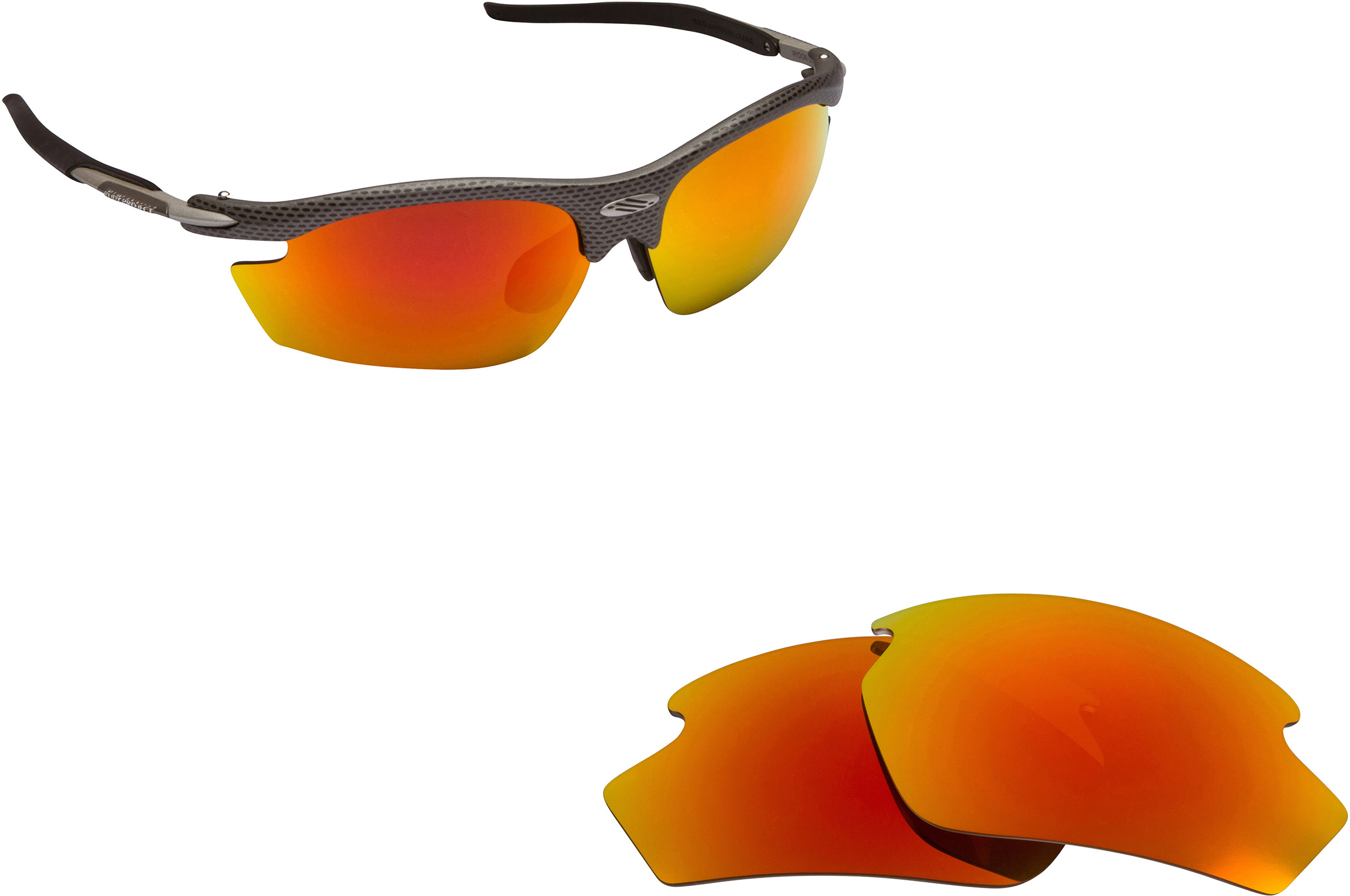 Polarized Replacement Lenses for RUDY PROJECT Noyz Sunglasses Anti-Scratch Red