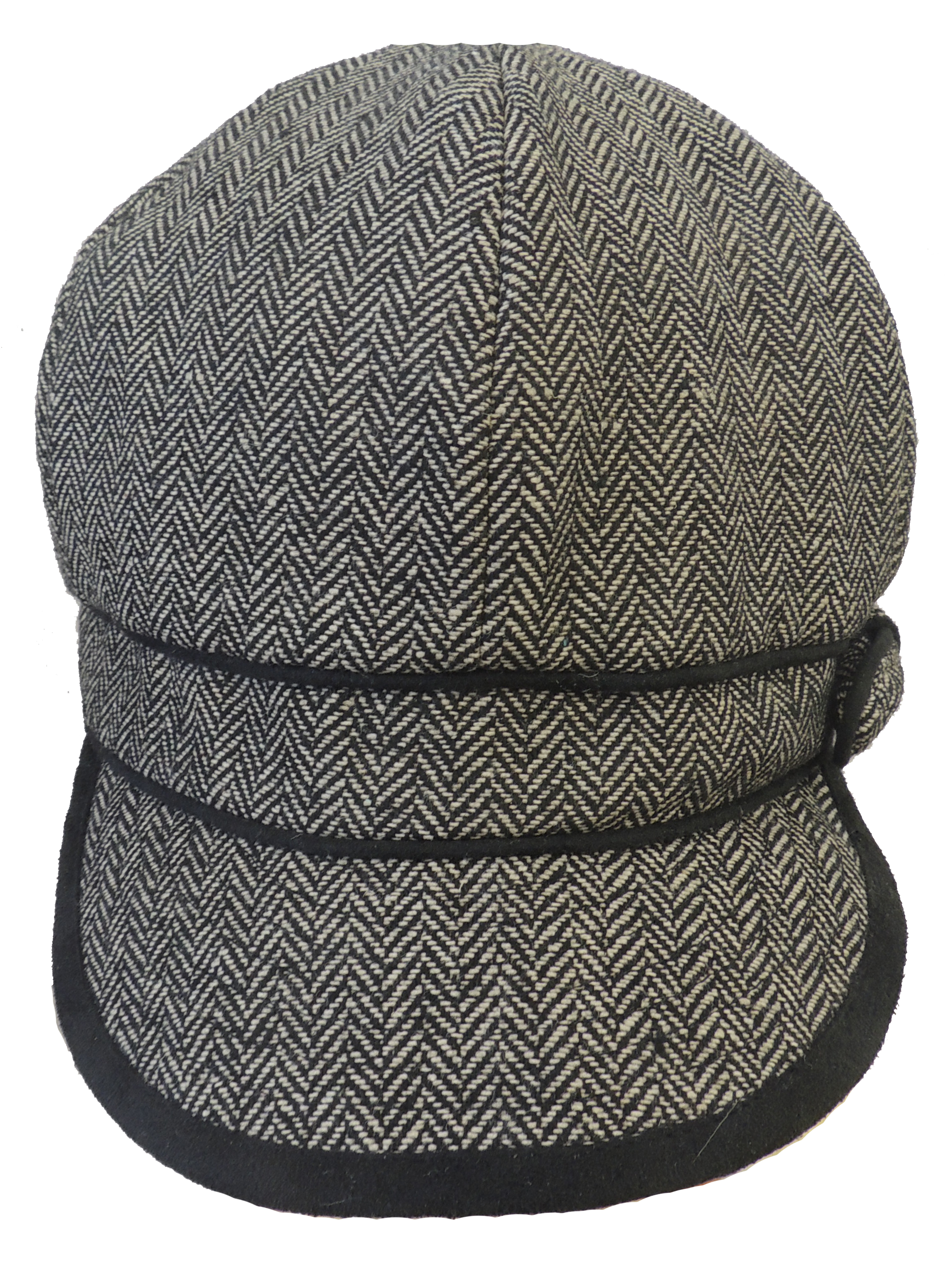 New Ladies VTG 1920s 30s Gatsby Tweed-style Herringbone Baker boy Cap Hat 91e2ed7f875a