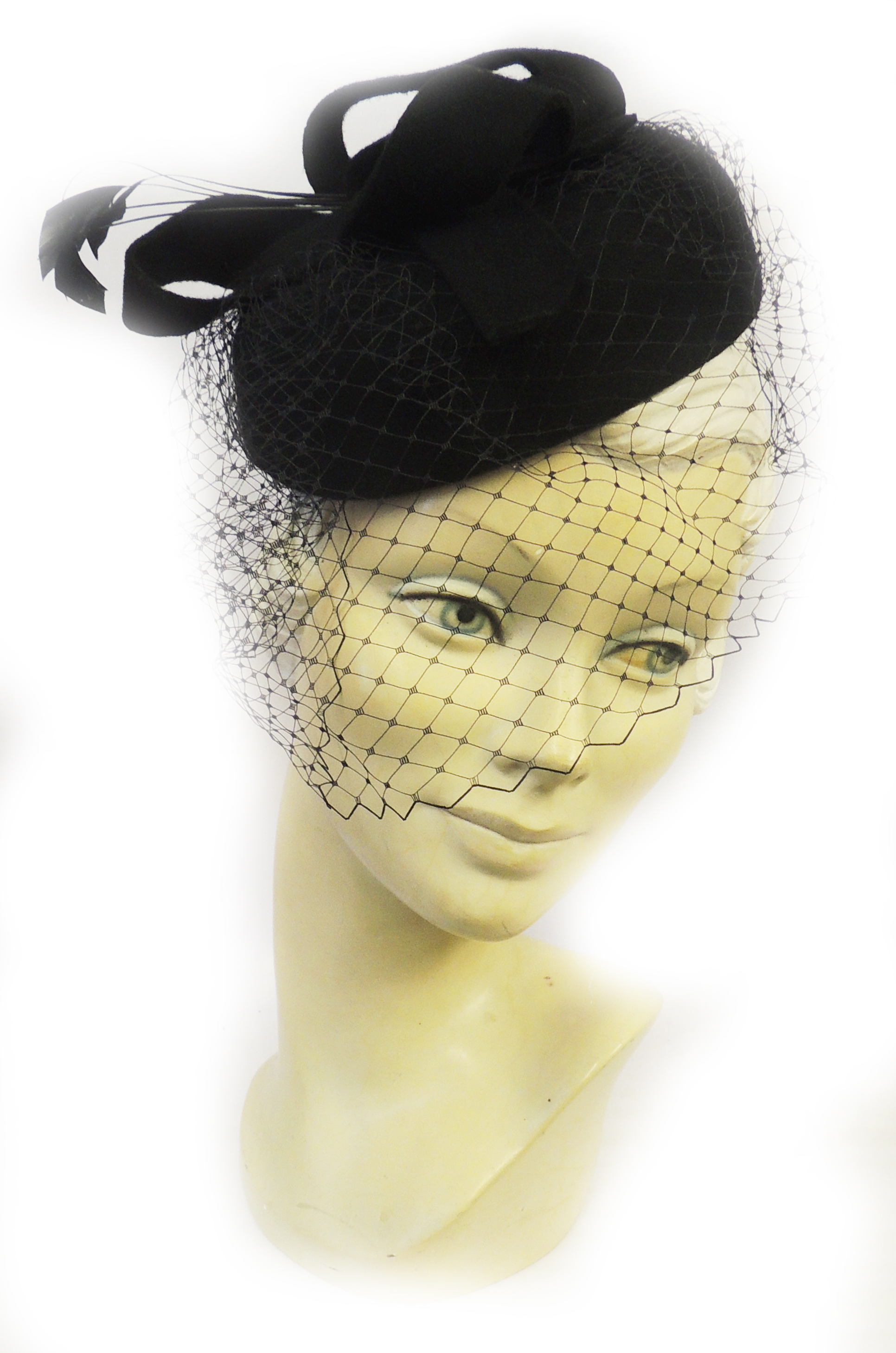 1940s Style Hats    New Ladies VTG 1940s 1950s Retro WW2 Wartime Pin-up Pill Box Hat with Veil $29.95 AT vintagedancer.com