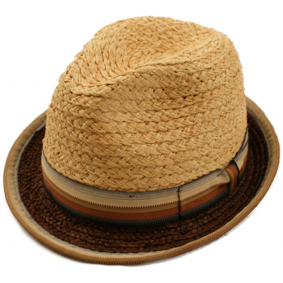 b23a49ec Retro 1940s 50s Mens Straw Trilby Style Summer Sun Hat With Striped Outer  Band