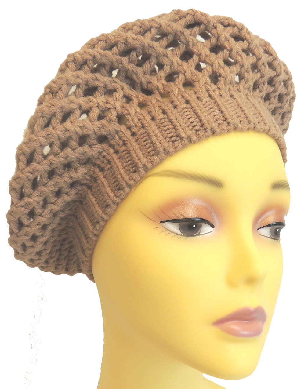Women's Vintage Hats | Old Fashioned Hats | Retro Hats    New Vintage WWII 1940's Style Homefront Victory Classic Crochet Beret Snood $8.99 AT vintagedancer.com