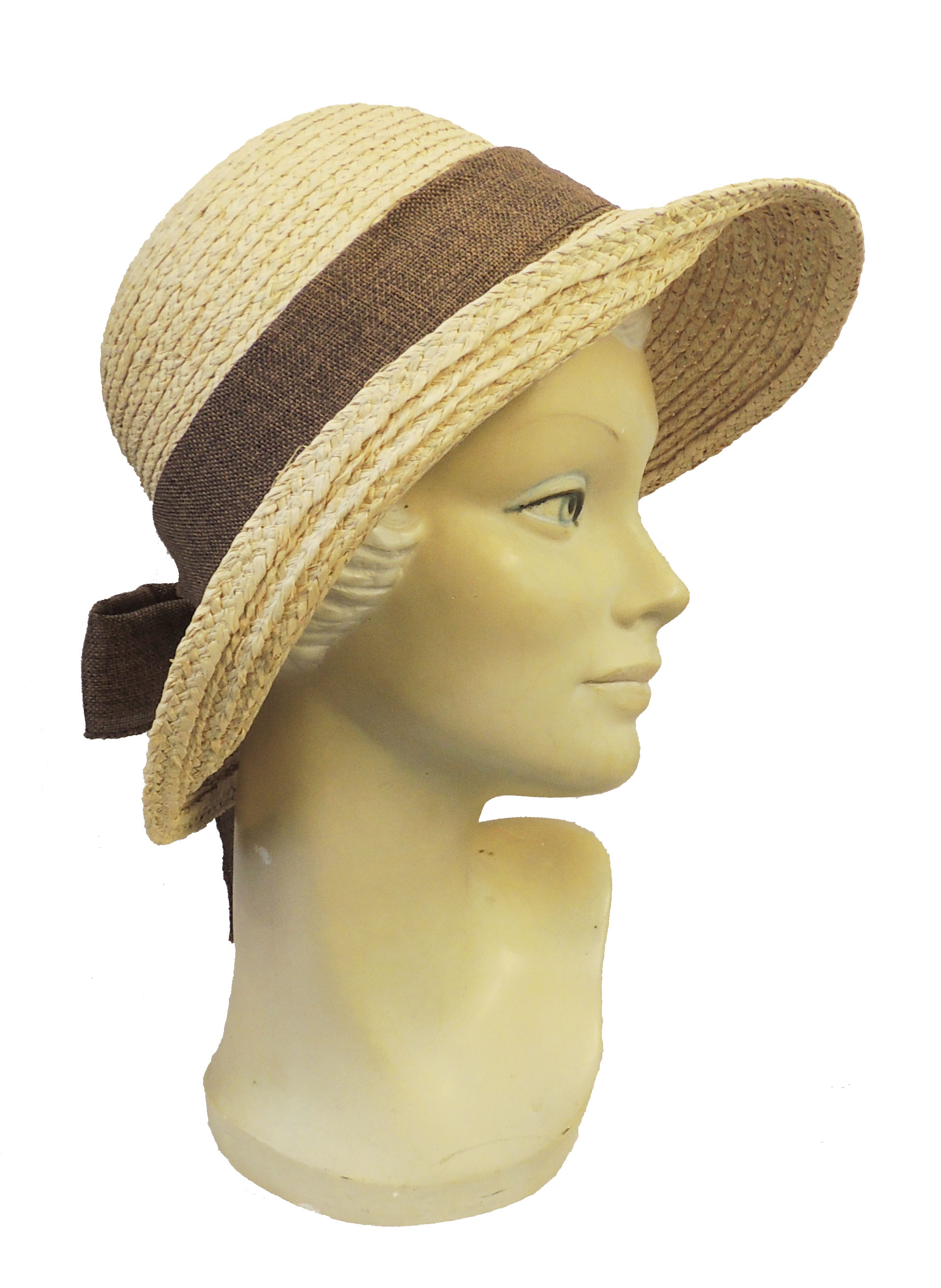 1940s Dresses and Clothing UK | 40s Shoes UK    New Retro Wide Brim Raffia Summer Sun Hat 1920s 1940s Style with Brown Trim $14.95 AT vintagedancer.com