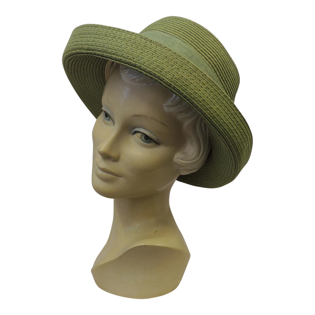 015feccbbdf New Retro Raffia wide Brim Sun Cloche Hat 1920 s 30 s 1940 s Vintage Style