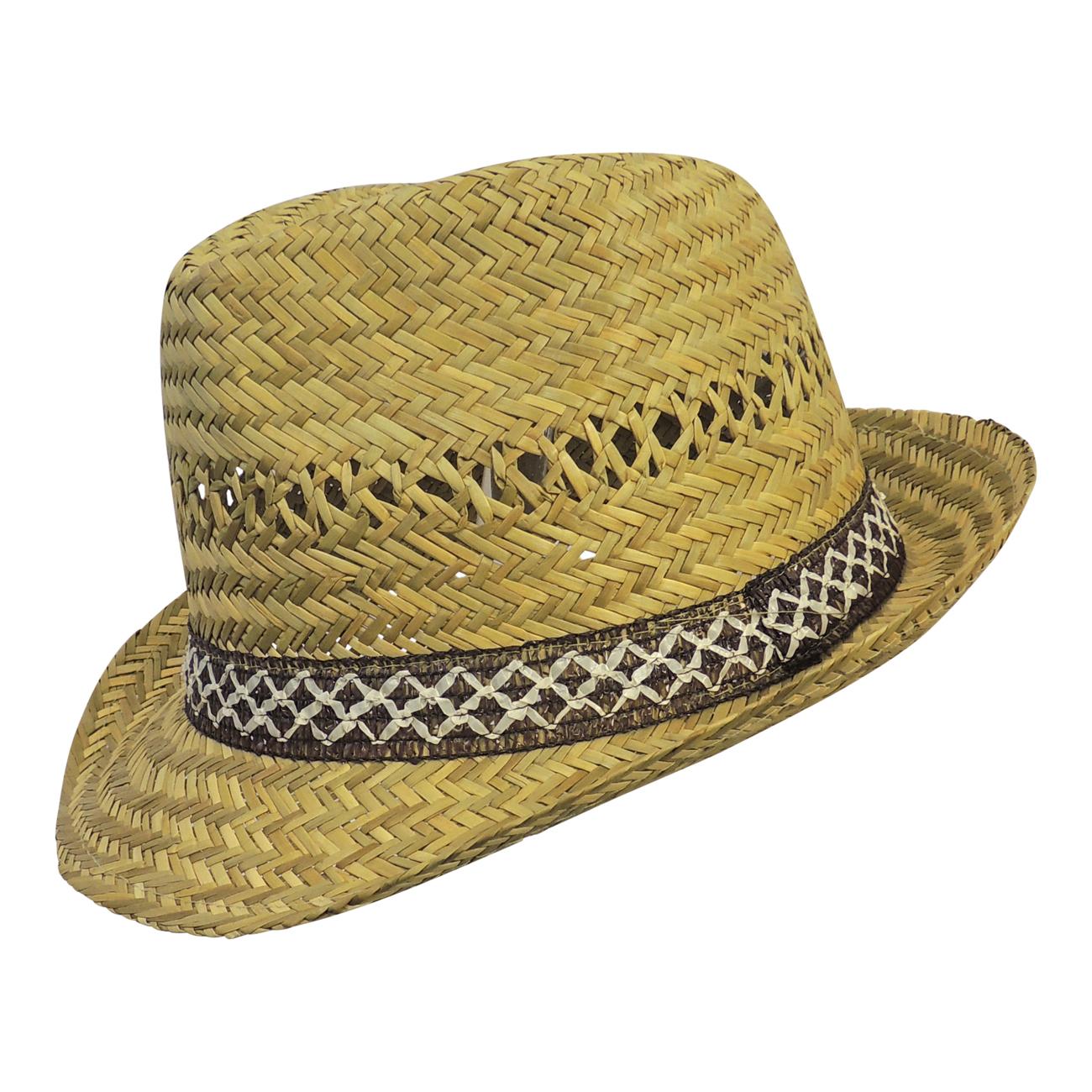 Nuovo Retrò 1940s Anni 50 Uomo Paglia Cappello di Feltro Stile ... f77c9fa40ede