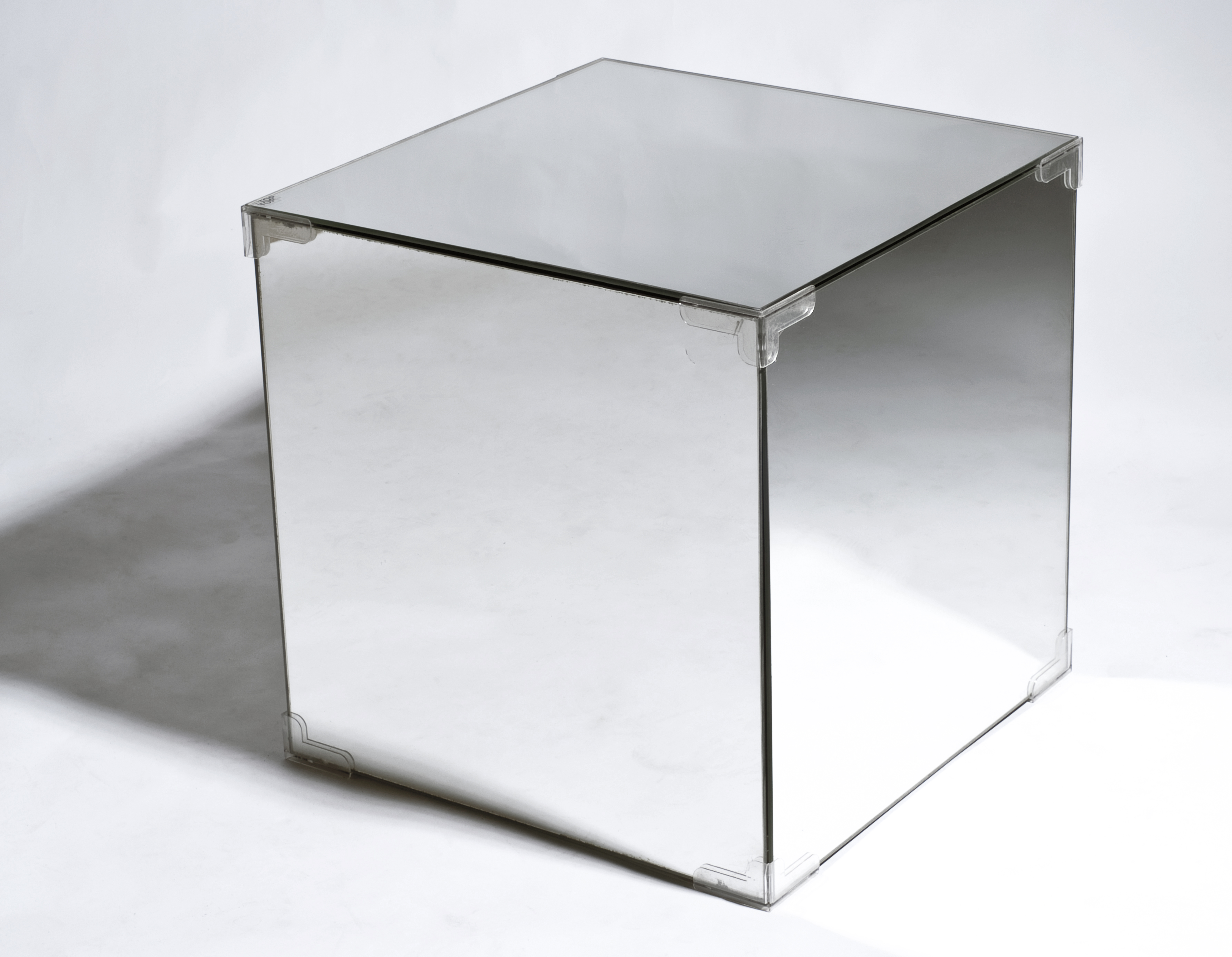 Timeless 1920u0027s Bauhaus Deco Design   Mirrored Side Table Storage Cube   New