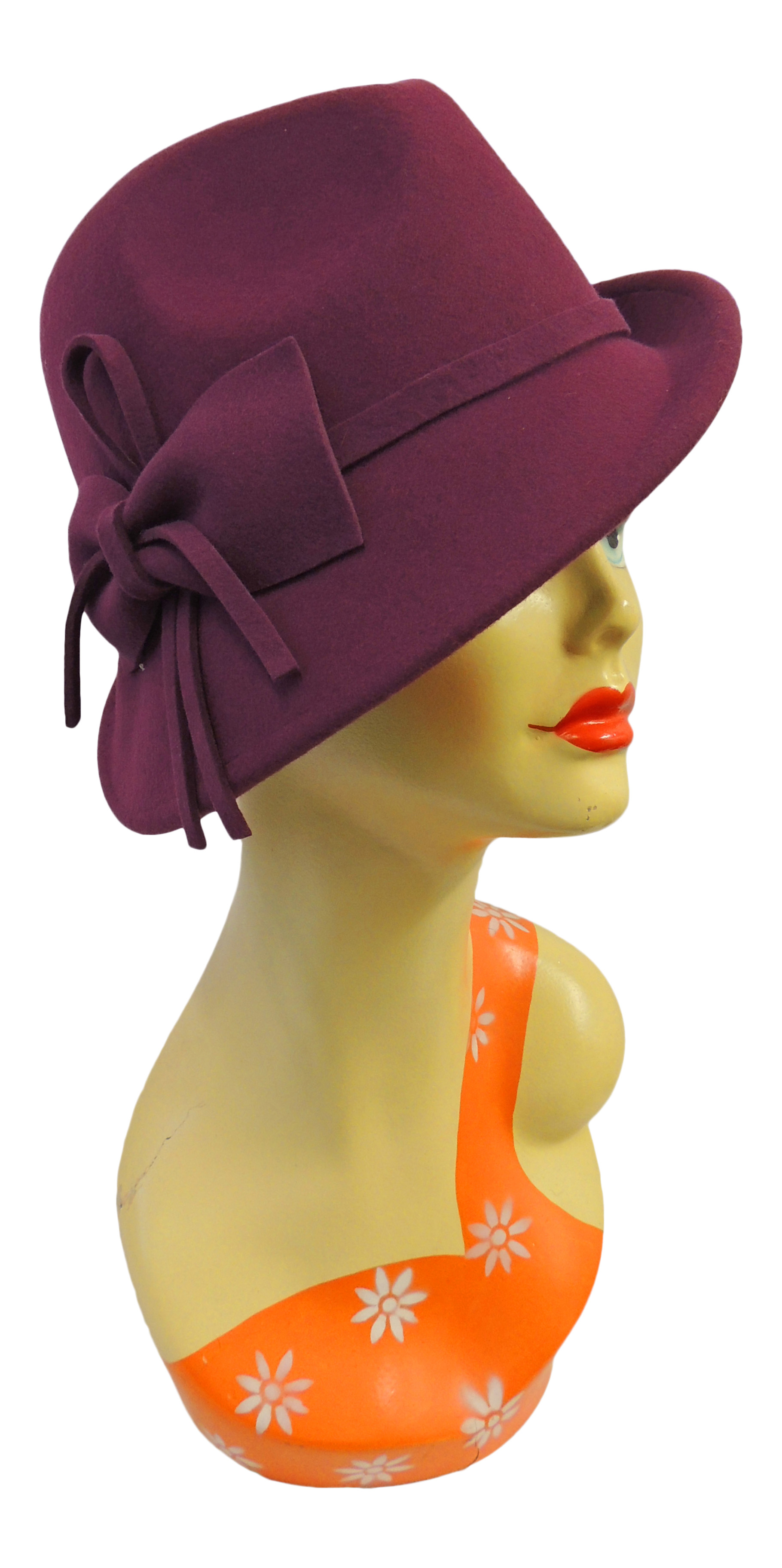 1930s Style Hats – New Vintage Inspired Designs   Retro Vintage 1920s 1930s 1940s style Felt Fedora Cloche Gatsby Trilby Hat $29.99 AT vintagedancer.com
