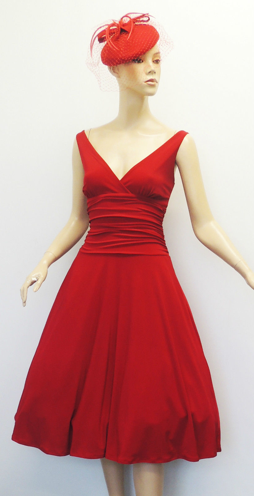 New-Rosa-Rosa-Vtg-1950-039-s-Rockabilly-034-Jane-034-Pin-Up-Party-Salsa-Swing-Prom-Dress