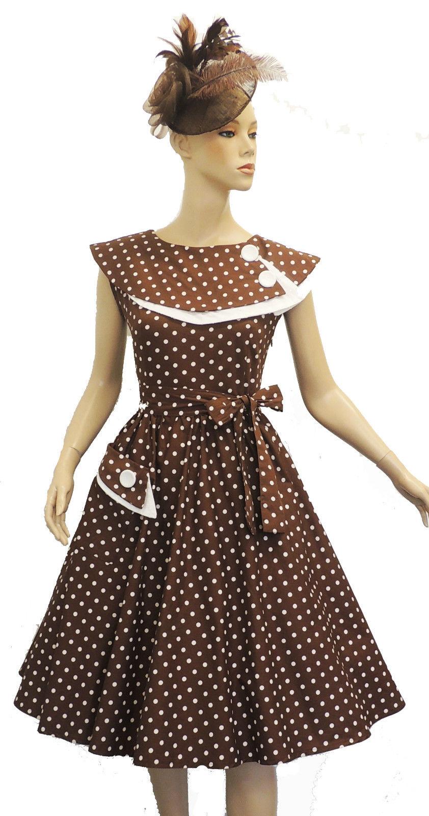 New Rosa Rosa Vtg 1950s Retro Polka Dot Rockabilly Party