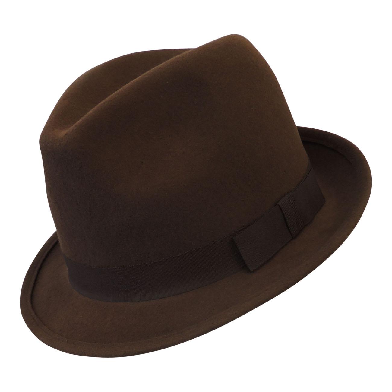 30c01d810e8caf New Men's Classic 1930's 1940's Vtg style Wool Felt Gangster Mafia Trilby  Hat