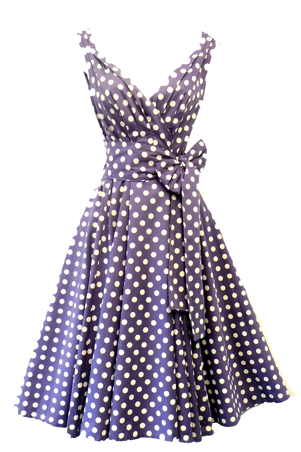neu spot pin up vintage1950s style weicher lila punkt swing nachmittagskleid ebay. Black Bedroom Furniture Sets. Home Design Ideas