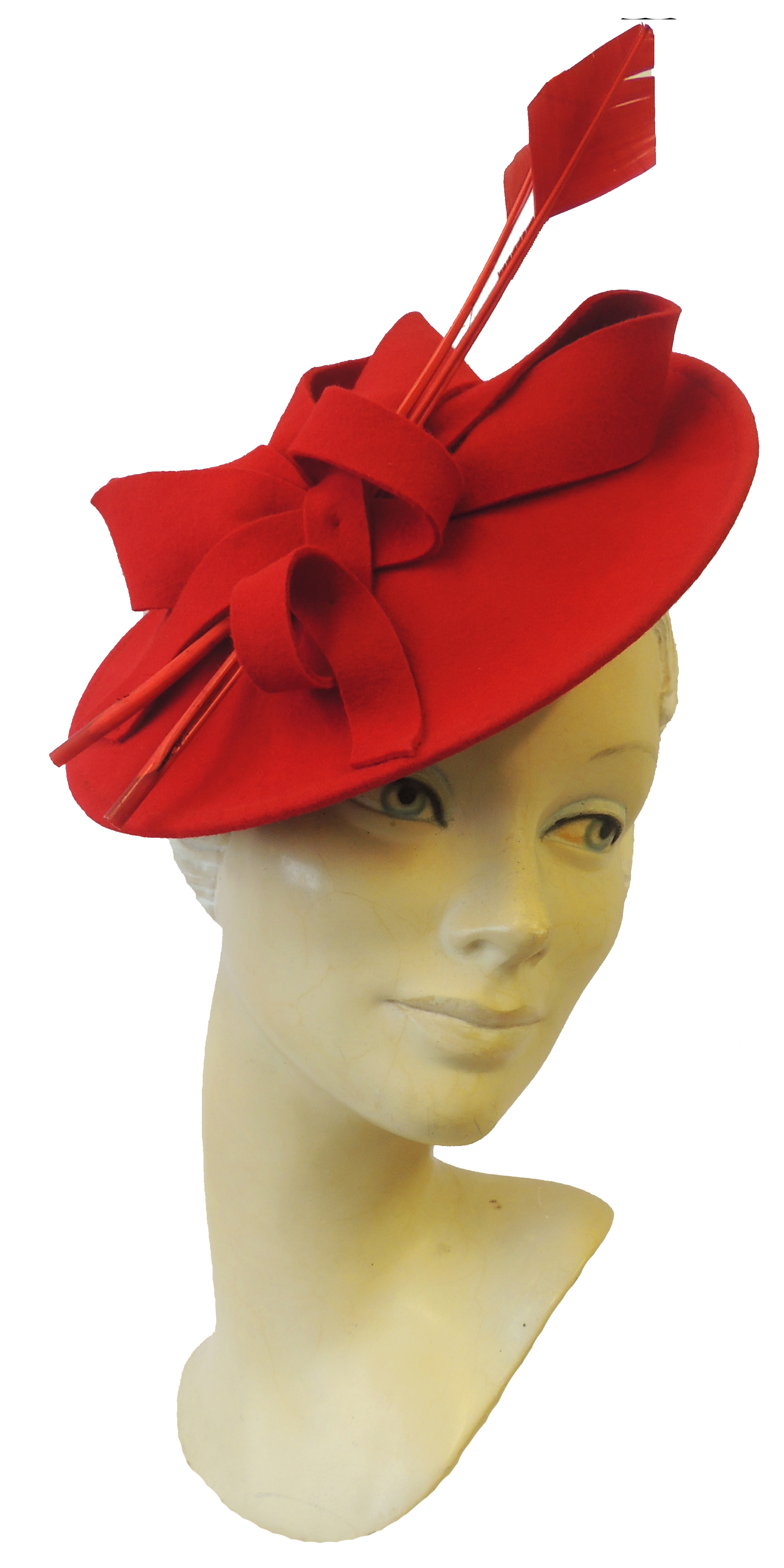 1940s Dresses and Clothing UK | 40s Shoes UK    New Ladies Retro 1940s 50s Hollywood Glamour Retro Pin-up Saucer Tilt Hat Hatina £44.99 AT vintagedancer.com