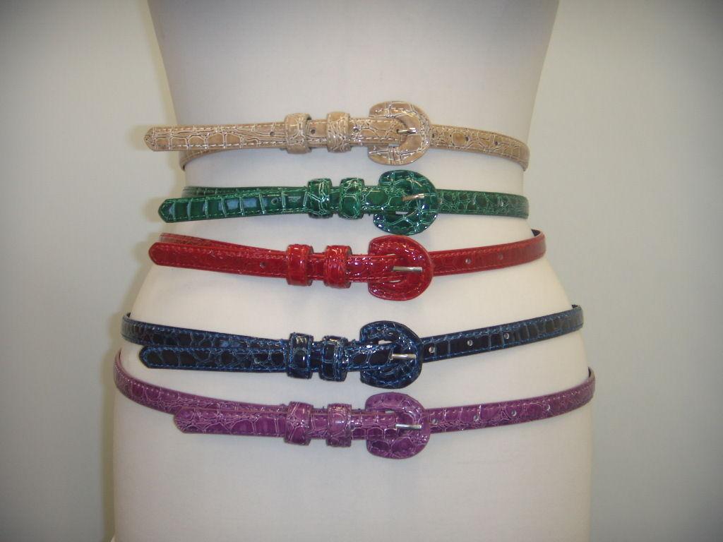 60s Dresses & 60s Style Dresses UK   Thin faux snake skinny belt 6 colours £5.99 AT vintagedancer.com