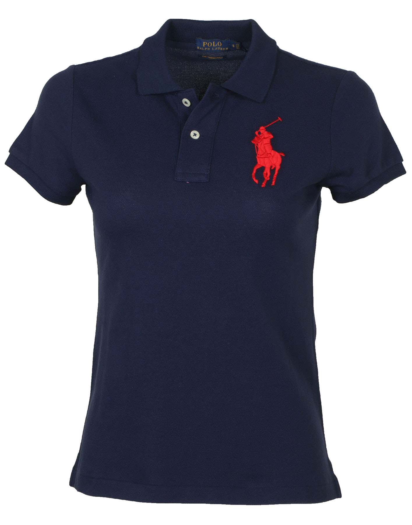 Polo Navy Skinny Ralph Big Mesh Ebay Pony Lauren Women's Shirt rrxP86