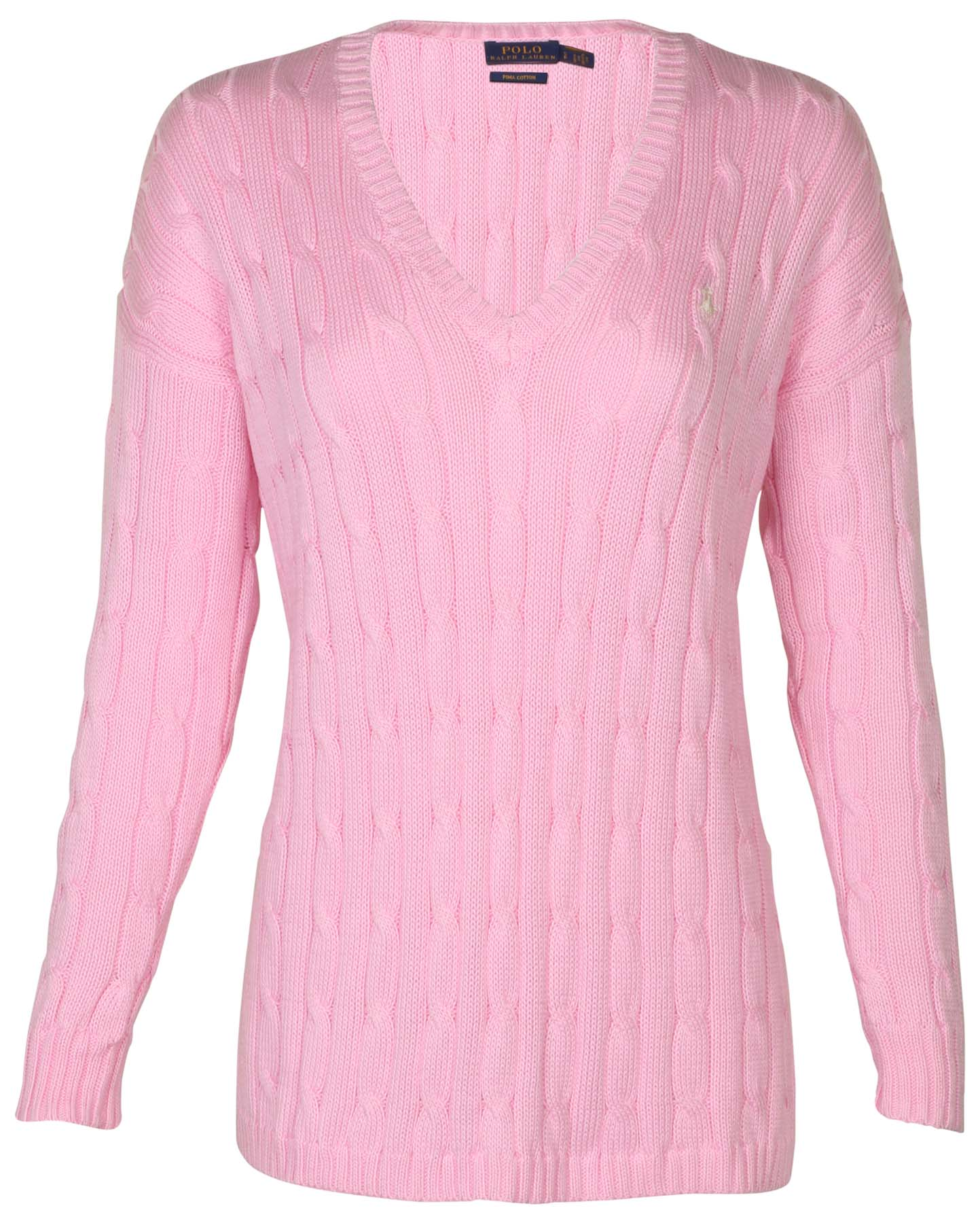 Polo Ralph Lauren Womens Cable Knit V Neck Pony Sweater Ebay