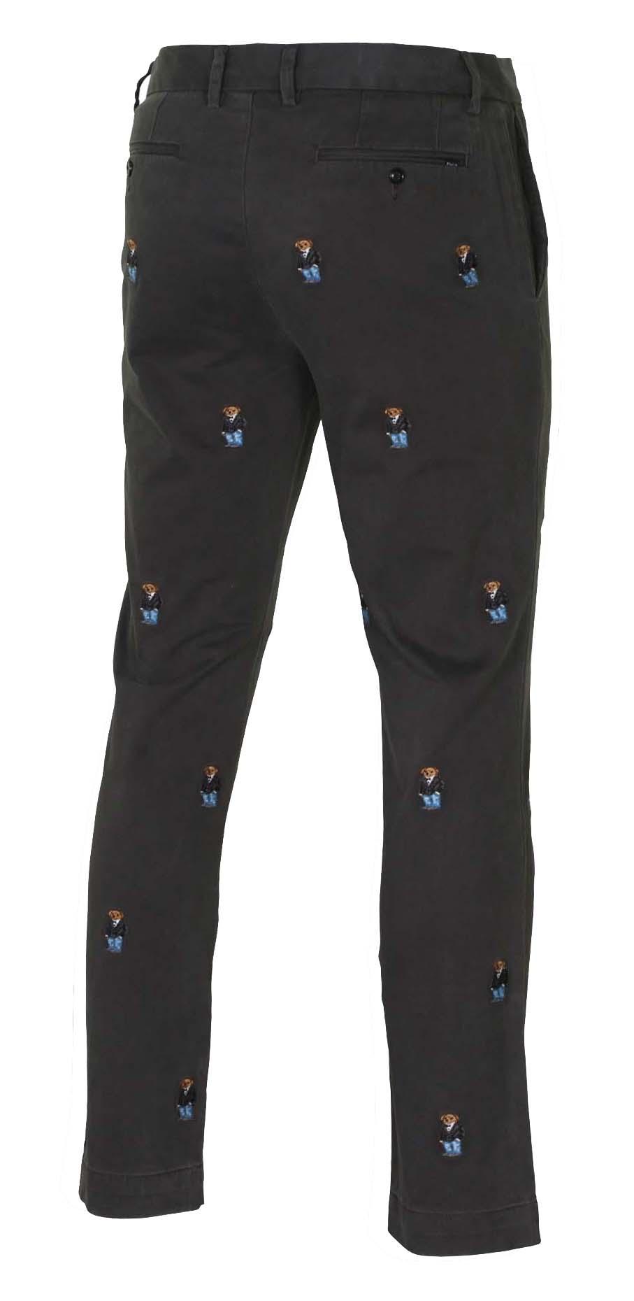 38b2894d40aed Polo Ralph Lauren Men s Suit Bear Slim Fit Chino Pants-Faded Black ...