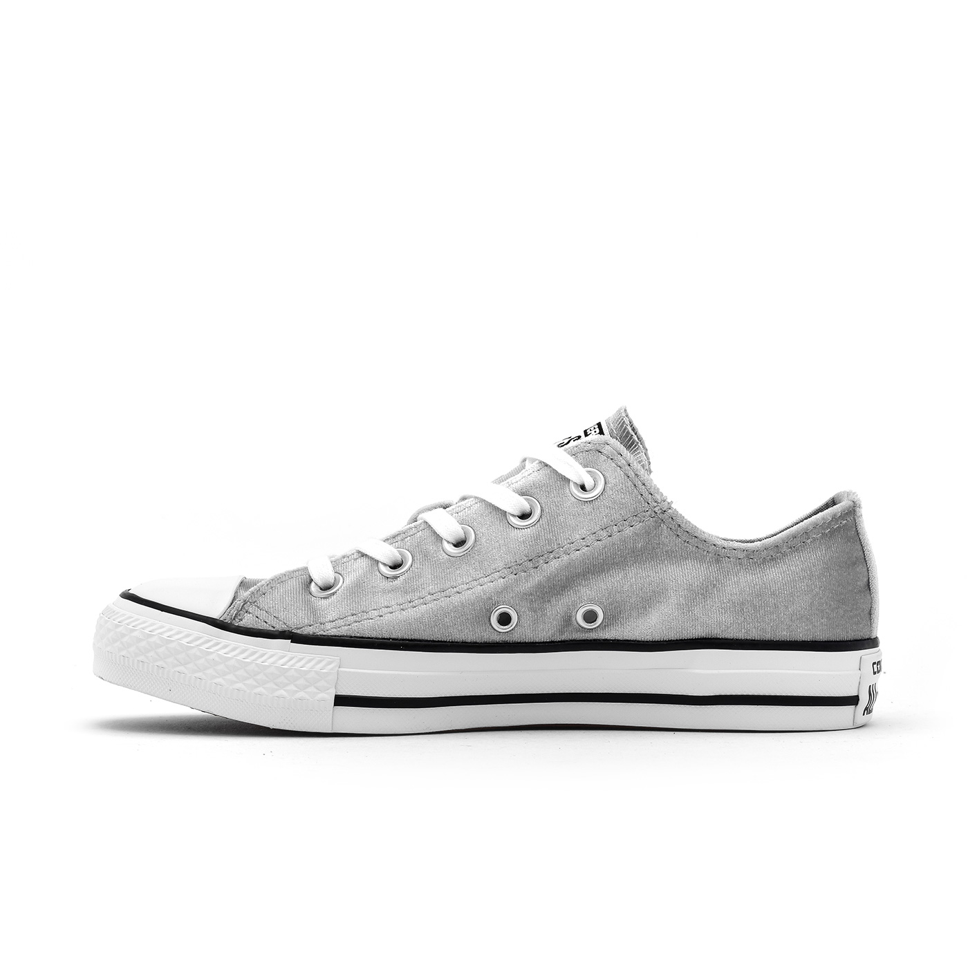 e6e2d5e5809 Converse Women s Chuck Taylor All Star Ox Velvet Shoes-Wolf Grey ...