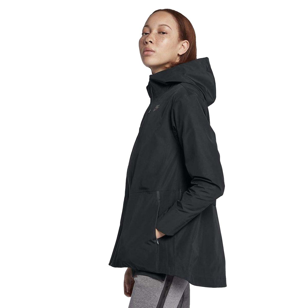 cb1b7e1a666 Nike Women s Sportswear Tech Hooded Woven Jacket-Black